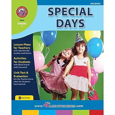 eBook: Special Days, Grade 1 (PDF version, 1-User Download), ISBN 978-1-55319-134-6