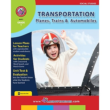 eBook: Transportation: Planes, Trains & Automobiles, Grade 1 (PDF version, 1-User Download), ISBN 978-1-55319-133-9