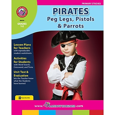 eBook: Pirates: Peg Legs, Pistols & Parrots, Grades 1-2 (PDF version, 1-User Download), ISBN 978-1-55319-157-5
