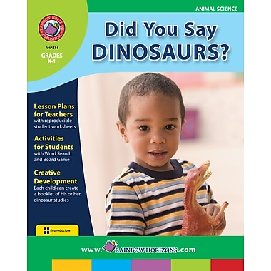 eBook: Did You Say Dinosaurs?, Grades K-1 (PDF version, 1-User Download), ISBN 978-1-55319-217-6