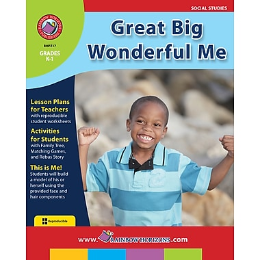 Great Big Wonderful Me, Grades K-1, ISBN 978-1-55319-227-5