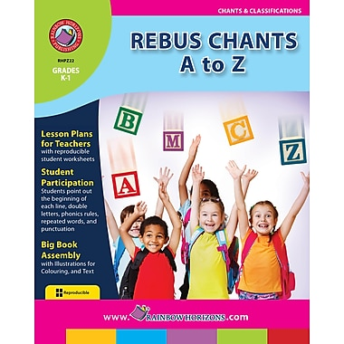 eBook: Rebus Chants A to Z, maternelle à 1re année, (téléch. 1 util.), ISBN 978-1-55319-177-3