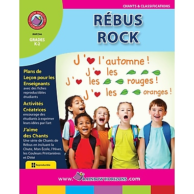 eBook: Rebus Rock (French), Grades K-2 (PDF version, 1-User Download), ISBN 978-1-55319-258-9
