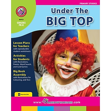 eBook: Under The Big Top, Grades PK-K (PDF version, 1-User Download), ISBN 978-1-55319-270-1