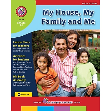eBook: My House, My Family and Me, Grades K-1 (PDF version, 1-User Download), ISBN 978-1-55319-246-6