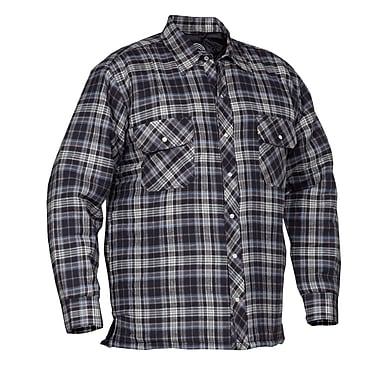 Forcefield Quilted Flannel Shirt, Blue, Size Large