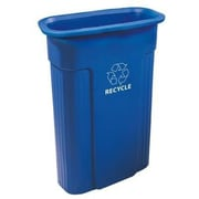 Toter 23-Gal Slimline Recycling Container with Universal Recycle Symbol