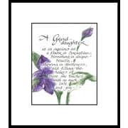 LPGGreetings Life Lines Granddaughter Textual Art Matted & Framed Print