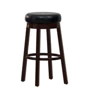 Hokku Designs Trixie 29'' Swivel Bar Stool (Set of 2); Black