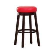 Hokku Designs Trixie 29'' Swivel Bar Stool with Cushion (Set of 2); Red