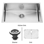 Vigo 30 inch Undermount Single Bowl 16 Gauge Stainless Steel Kitchen Sink; Yes