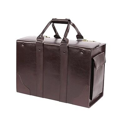 Bond Street Double Handle Catalog Case Leather Laptop Briefcase