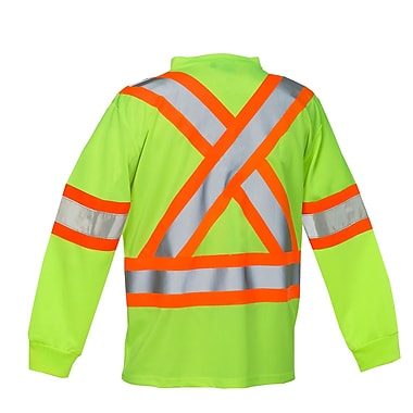 Forcefield Long Sleeve Safety Tee, Lime, 3XL