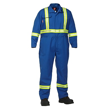 Forcefield Nomex Coverall, Blue, Tall, Size 40T