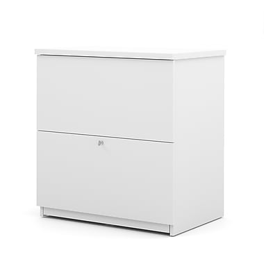 Bestar Commercial Lateral File, 2-Drawer, White