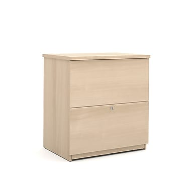 Bestar Commercial Lateral File, 2-Drawer, Northern Maple