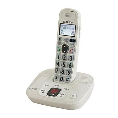 Clarity D712 DECT 6.0 Amplified/Low Vision Cordless Phone with Answering Machine