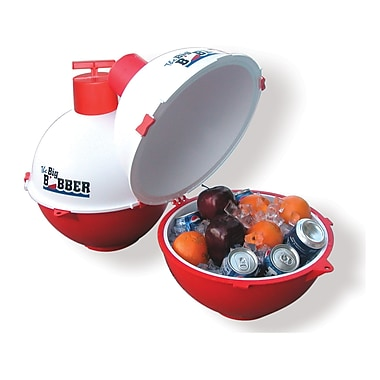 The Big Bobber Floating Cooler, Red/White