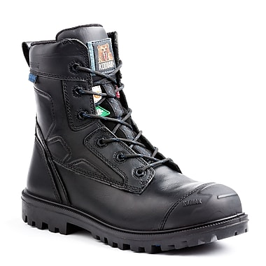 Kodiak – Chaussures de travail Blue Renegade pour hommes, 8 po, cuir noir, taille 9