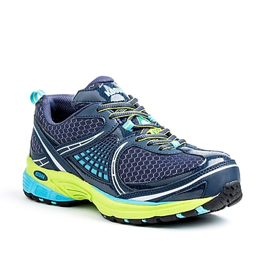 Kodiak Meg Women's Athletic Safety Shoe, Navy, Aqua and Green, Size 8.5