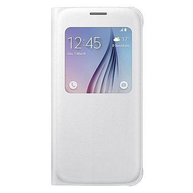Samsung S View Cover for GS6 (PU), White