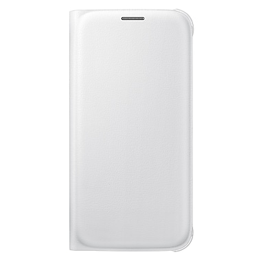 Samsung – Étui portefeuille pivotant pour le GS6 (PU), blanc