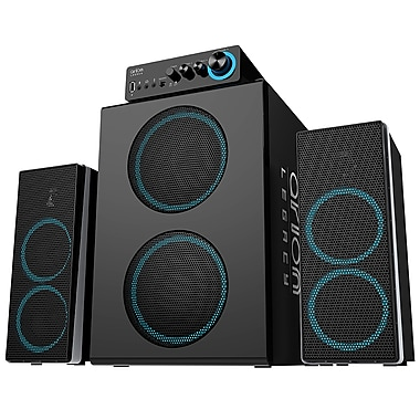 Arion Legacy ARDS750-BK 3-Piece Bone Crushing Bass Speaker System, Black, English