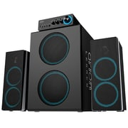 Arion Legacy ARDS750-BK 3-Piece Bone Crushing Bass Speaker System, Black, English