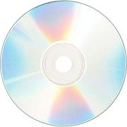 Verbatim® CD Recordable Media with Shiny Silver Silk Screen Printable Surface, 700MB, CD-R, 52x, 100/Pack