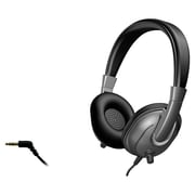 Cyber Acoustics ACM-7003 Stereo Over-the-Head Headphones with Mic, Black