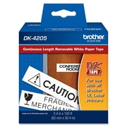 "Brother® Dk4205 2.4"" Removable Continuous Paper Label Tape, Black On White"
