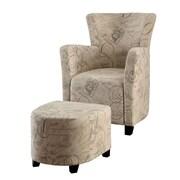 Hokku Designs Haven Chair and Ottoman; Print