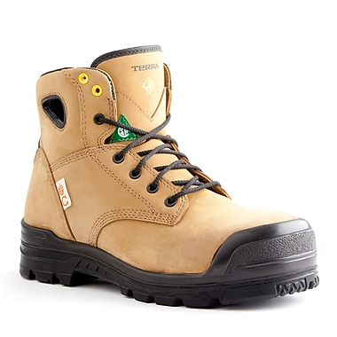 Terra – Chaussures de travail Baron pour hommes, 6 po, noir, taille 7