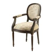 Hokku Designs Freilja Linen Arm Chair; Print