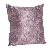 Saro Throw Pillow; Eggplant