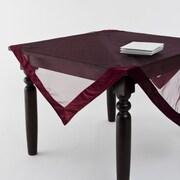 Saro Sheer Velvet Tablecloth; Wine