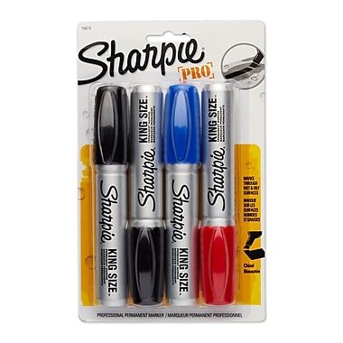 Sharpie® King Size™ Permanent Markers, Chisel Tip, Assorted, 4 Pack