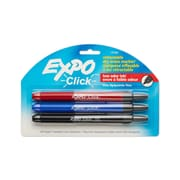 EXPO® Retractable DryErase Marker, Fine Tip, Assorted, 3/Pack