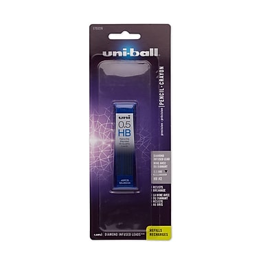 Sanford® uni-ball® Diamond HB Lead Refill, 0.5 mm, Black, 40/pk (1753230)
