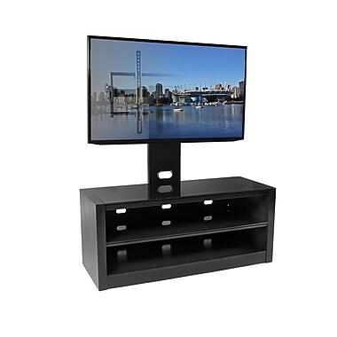 Kanto – Meuble Mesa pour téléviseur de 64 po avec support inclinable Plus, 117 x 50,8 x 45, noir