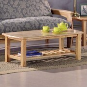 Night & Day Standard Corona Coffee Table; Dark Chocolate
