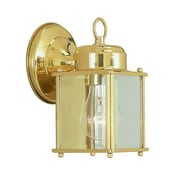 Livex Lighting Outdoor Basics 1 Light Outdoor Wall Lantern; Polished Brass