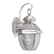 Livex Lighting Monterey Outdoor Wall Lantern; Brushed Nickel
