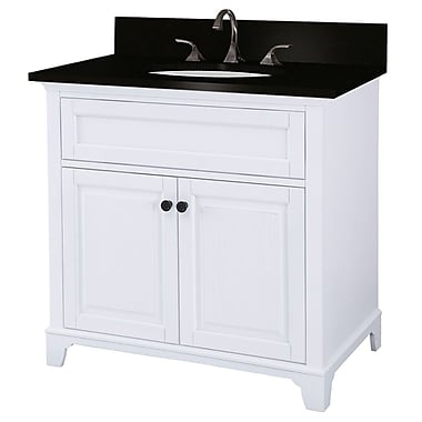 Foremost – Meuble-lavabo de 36 po, collection Hastings, fini en chêne blanc, 2 portes