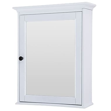 Foremost – Armoire à pharmacie Coll. Hastings, 2 tablettes ajustables, syst. de fixation Secure-MountMC 23 po, fini chêne blanc