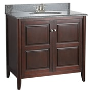 "Foremost 36"" Vanity, Tobacco Finish, 2 Doors, Assembled Vanity, Top and Faucet Not Include"