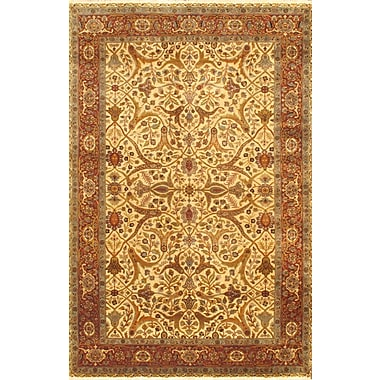 Torabi Rugs Fine Mirzapur Rug, Brown/Cream, 6'0