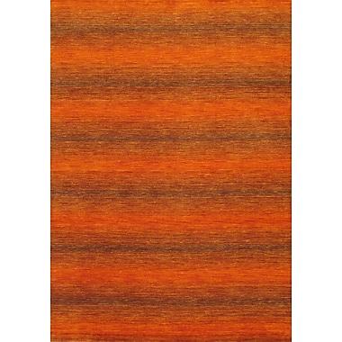 Torabi Rugs Gabbeh Rug, Orange, 5'7