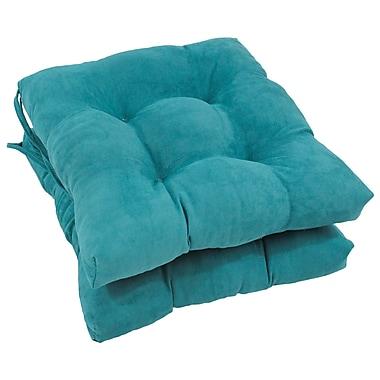 Blazing Needles Dining Chair Cushion (Set of 2); Aqua Blue