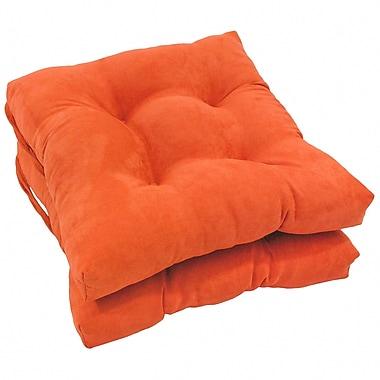 Blazing Needles Dining Chair Cushion (Set of 2); Tangerine Dream